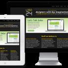 The responsively designed Logo24 website displayed on an iMac-like, iPad-like and iPhone-like device