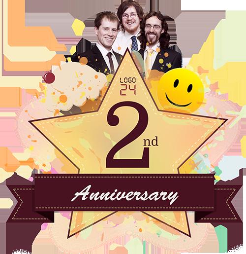 2 Year Anniversary Logo