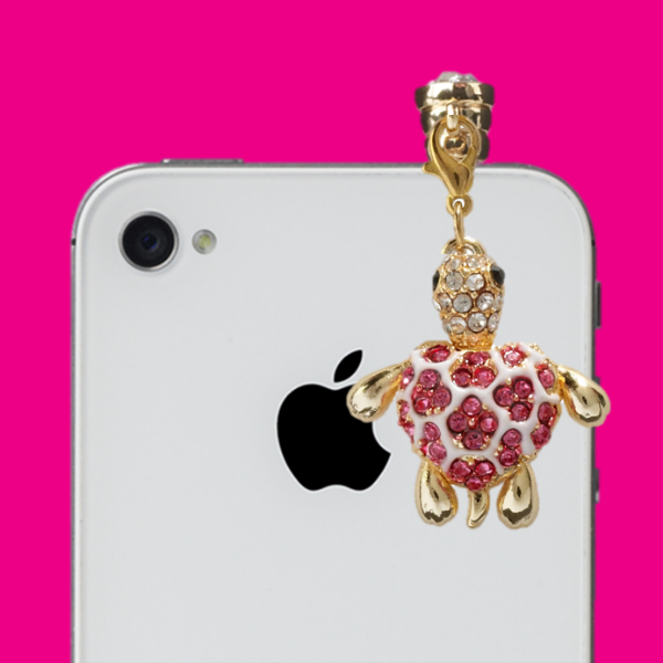 "The ""Turtely Awesome"" Popin Charm on an iPhone"